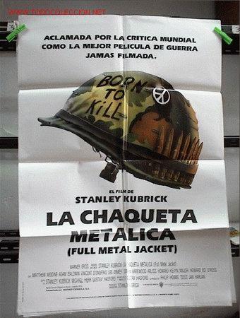 LA CHAQUETA METALICA (Cine - Posters y Carteles - Bélicas)