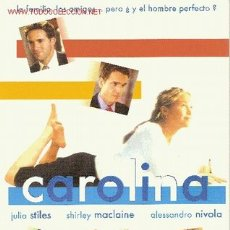 Cine: 'CAROLINA', CON JULIA STILES. TAMAÑO FOLIO.. Lote 21760506