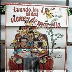 Cine: CUANDO LOS NIÑOS VIENEN DE MARSELLA . MANOLO ESCOBAR. Lote 30847554