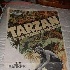 Cine: CARTEL.TARZAN Y LA FUENTE MAGICA.ORIGINAL.100X75CMS.FILMAX.LEX BARKER. Lote 5867095