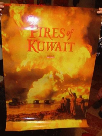 'FIRES OF KUWAIT'. PELÍCULA DOCUMENTAL EN IMAX 70 MM. (Cine - Posters y Carteles - Documentales)
