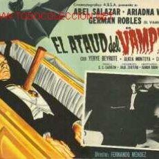 Cine: TERROR - EL ATAUD DEL VAMPIRO - ABEL SALAZAR - ARIADNA WELTER - GERMAN ROBLES - LOBBY CARD ORIGINAL . Lote 2442706