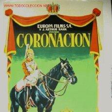 Cine: CORONACION - LITOGRAFIA ILUSTRADOR: JANO. Lote 7336913