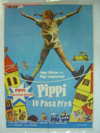 PIPPI LO PASA PIPA.- PIPPI CALZASLARGAS - AÑO 1975 (Cine - Posters y Carteles - Infantil)