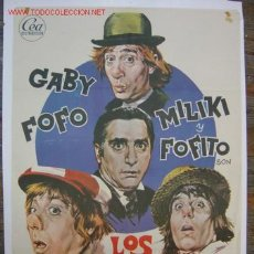 Cine: LOS PADRINOS - GABY, FOFO, MILIKY Y FOFITO - AÑO 1974. Lote 27555865