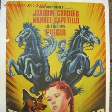 Cine: TRES VALIENTES CAMARADAS - JOAQUIN CORDERO, MANUEL CAPETILLO, GUI-GUI - LITOGRAFIA. Lote 25047699