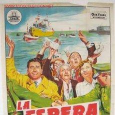 Cine: CARTEL CINE LA ESPERA , ILUSTRADO POR PERIS ARAGO, LITOGRAFIA AÑOS 40-50. Lote 19363423