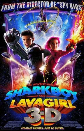 'LAS AVENTURAS DE SHARKBOY Y LAVA GIRL EN 3-D' + GAFAS PARA LA PELÍCULA DE REGALO. (Cine - Posters y Carteles - Infantil)
