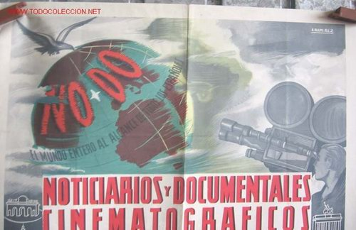 Cine: Cartel NODO NOTICIARIOS Y DOCUMENTALES CINEMATOGRAFICOS - Foto 2 - 20618130