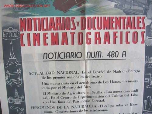 Cine: Cartel NODO NOTICIARIOS Y DOCUMENTALES CINEMATOGRAFICOS - Foto 3 - 20618130