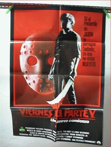 VIERNES 13 V (Cine - Posters y Carteles - Terror)