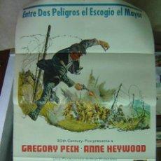Cinema: LA MAXIMA AMENAZA - AÑOS 60 - GREGORY PECK - ILUSTR.: --, CARTEL ARGENTINO. Lote 9895875