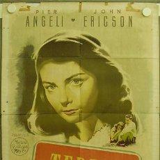 Cine: ZQ63D TERESA PIER ANGELI POSTER ORIGINAL ESTRENO 70X100 LITOGRAFIA. Lote 9942634