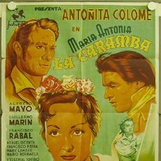 Cine: FC66 MARIA ANTONIA LA CARAMBA ANTOÑITA COLOME TOROS POSTER ORIGINAL ESTRENO 70X100 LITOGRAFIA. Lote 9946226