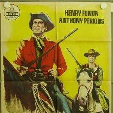 Cine: FD00 CAZADOR DE FORAJIDOS ANTHONY MANN HENRY FONDA ANTHONY PERKINS POSTER ORIGINAL 70X100 ESTRENO. Lote 12045484
