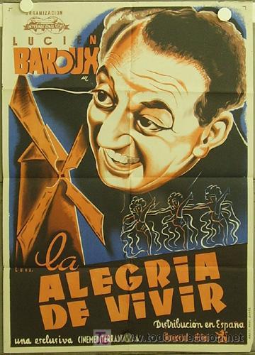 YC70D LA ALEGRIA DE VIVIR MOULIN ROUGE LUCIEN BAROUX POSTER ORIGINAL 70X100 ESTRENO LITOGRAFIA (Cine - Posters y Carteles - Musicales)