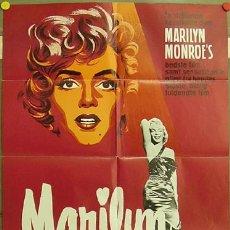 Cine: FD10 MARILYN MARILYN MONROE ROCK HUDSON POSTER ORIGINAL 60X84 ALEMAN. Lote 9949986