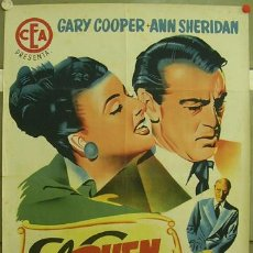 Cine: CCJ ZL12D EL BUEN SAM GARY COOPER ANN SHERIDAN POSTER ORIGINAL 70X100 ESTRENO LITOGRAFIA. Lote 18223650