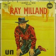 Cine: FD50 UN HOMBRE SOLO RAY MILLAND POSTER ORIGINAL 70X100 ESTRENO LITOGRAFIA. Lote 9975475