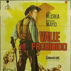 Cine: FD81 VALLE PROHIBIDO JOEL MCCREA VIRGINIA MAYO POSTER ORIGINAL 70X100 ESTRENO. Lote 9981279