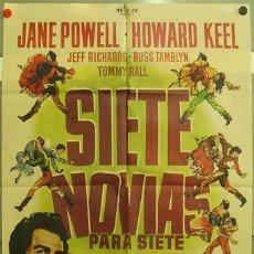 Cine: VX00D SIETE NOVIAS PARA SIETE HERMANOS STANLEY DONEN POSTER ORIGINAL 70X100 ESTRENO. Lote 9984417