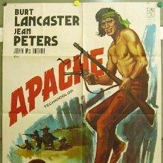 Cine: FF78 APACHE BURT LANCASTER JEAN PETERS JANO POSTER ORIGINAL 70X100 ESPAÑOL R-74. Lote 10000739