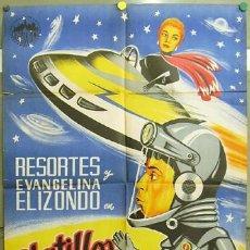 Cine: WV37D PLATILLOS VOLADORES RESORTES JULIAN SOLER POSTER ORIGINAL ESTRENO 70X100 LITOGRAFIA. Lote 17542211