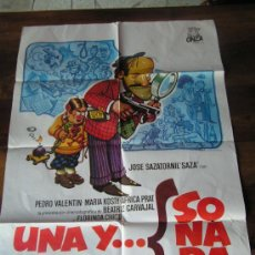 Cine: UNA Y SONADA CON PEDRO VALENTIN Y BEATRIZ CARVAJAL. Lote 23533842