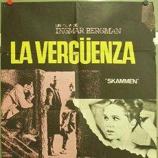 Cine: FE92 LA VERGUENZA INGMAR BERGMAN LIV ULLMAN POSTER ORIGINAL 70X100 ESTRENO. Lote 9988124