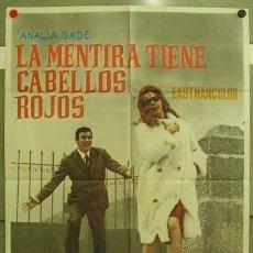 Cine: FE99 LA MENTIRA TIENE CABELLOS ROJOS ANTONIO ISASI ANALIA GADE POSTER ORIGINAL 70X100 ESTRENO. Lote 9988163