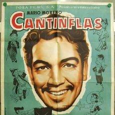Cine: TU48D MARIO MORENO CANTINFLAS SUBE Y BAJA ALBERICIO POSTER GENERICO ORIGINAL 70X100. Lote 9999883
