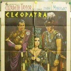 Cine: FG24 CLEOPATRA ELIZABETH TAYLOR POSTER ORIGINAL 70X100 ESTRENO A. Lote 9999961