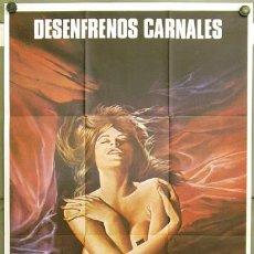 Cine: FG58 DESENFRENOS CARNALES SEXPLOITATION IGLESIAS POSTER ORIGINAL 70X100 ESTRENO. Lote 10036040