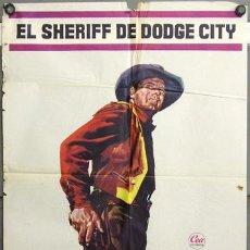 Cine: FG90 EL SHERIFF DE DODGE CITY JOEL MCCREA JULIE ADAMS POSTER ORIGINAL 70X100 ESTRENO. Lote 10038861
