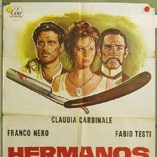 Cine: FI01 HERMANOS DE SANGRE CLAUDIA CARDINALE FRANCO NERO FABIO TESTI POSTER ORIGINAL 70X100 ESTRENO. Lote 10052449