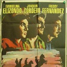 Cine: FI85 LOS TRES VILLALOBOS JOAQUIN CORDERO RUMBO WESTERN MEJICANO POSTER ORIGINAL 70X100 ESTRENO. Lote 10075602