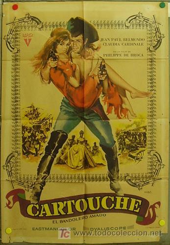 FI99 CARTOUCHE JEAN-PAUL BELMONDO CLAUDIA CARDINALE MAC POSTER ORIGINAL 70X100 ESTRENO (Cine - Posters y Carteles - Aventura)