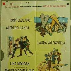 Cine: FJ44 LOS SUBDESARROLLADOS TONY LEBLANC LINA MORGAN MINGOTE POSTER ORIGINAL 70X100 ESTRENO. Lote 10087348