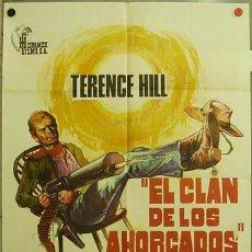 Cine: FJ72 EL CLAN DE LOS AHORCADOS TERENCE HILL SPAGHETTI POSTER ORIGINAL 70X100 ESTRENO. Lote 10089222