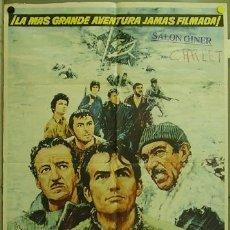 Cine: FJ84 LOS CAÑONES DE NAVARONE GREGORY PECK POSTER ORIGINAL 70X100 ESTRENO. Lote 11517473