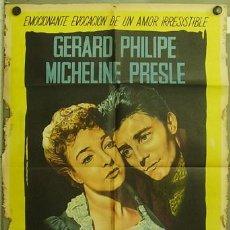 Cine: TI06D LE DIABLE AU CORPS GERARD PHILIPE POSTER ORIG ARGENTINO 75X110 LITOGRAFIA. Lote 10091123