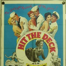 Cine: ZC03D HIT THE DECK DEBBIE REYNOLDS JANE POWELL POSTER ORIGINAL USA 70X105. Lote 10091596