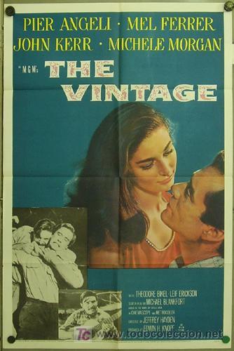 FK34 THE VINTAGE PIER ANGELI MEL FERRER POSTER ORIGINAL AMERICANO 70X105 (Cine- Posters y Carteles - Drama)