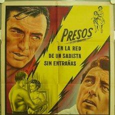 Cine: XC64D EL CABO DEL TERROR ROBERT MITCHUM GREGORY PECK POSTER ORIGINAL ARGENTINO 75X110 LITOGRAFIA. Lote 13409883