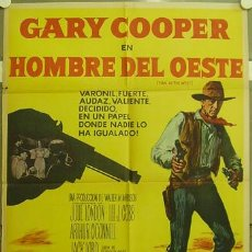 Cine: YY51D HOMBRE DEL OESTE GARY COOPER ANTHONY MANN POSTER ORIGINAL ARGENTINO 75X110 LITOGRAFIA. Lote 11474319