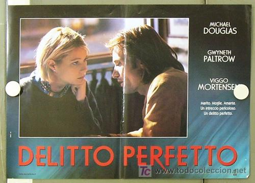 YE86D UN CRIMEN PERFECTO GWYNETH PALTROW MICHAEL DOUGLAS MORTENSEN SET DE 6 POSTERS ITALIANO 47X68 (Cine - Posters y Carteles - Suspense)