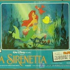 Cine: FM61 LA SIRENITA WALT DISNEY SET 6 POSTERS ORIGINALES ITALIANOS 47X68. Lote 10144484