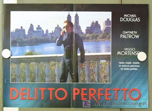 Cine: YE86D UN CRIMEN PERFECTO GWYNETH PALTROW MICHAEL DOUGLAS MORTENSEN SET DE 6 POSTERS ITALIANO 47X68 - Foto 6 - 10143799