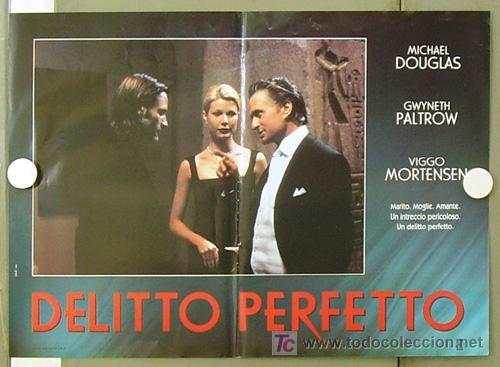 Cine: YE86D UN CRIMEN PERFECTO GWYNETH PALTROW MICHAEL DOUGLAS MORTENSEN SET DE 6 POSTERS ITALIANO 47X68 - Foto 5 - 10143799