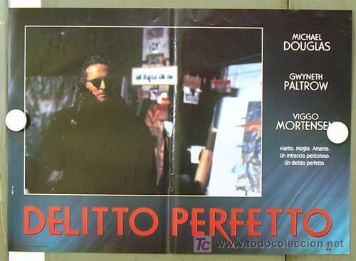 Cine: YE86D UN CRIMEN PERFECTO GWYNETH PALTROW MICHAEL DOUGLAS MORTENSEN SET DE 6 POSTERS ITALIANO 47X68 - Foto 4 - 10143799